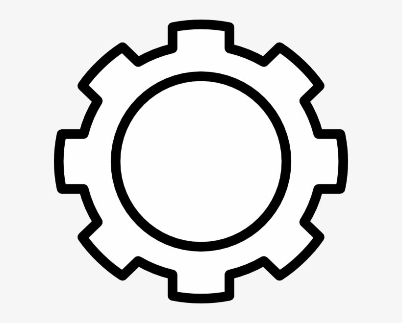 Gears Clipart Black And White.