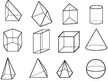 Geometric Shapes Clipart Black And White.
