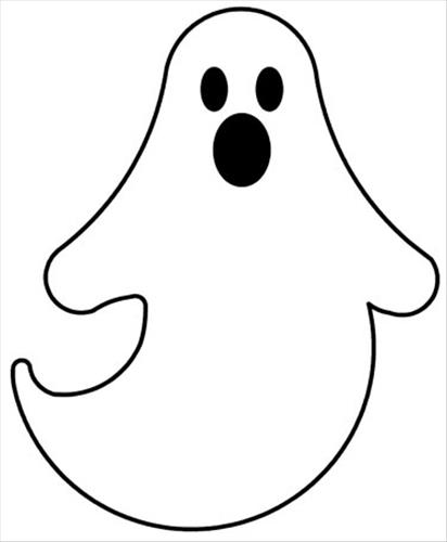 Ghost Clipart Black And White.