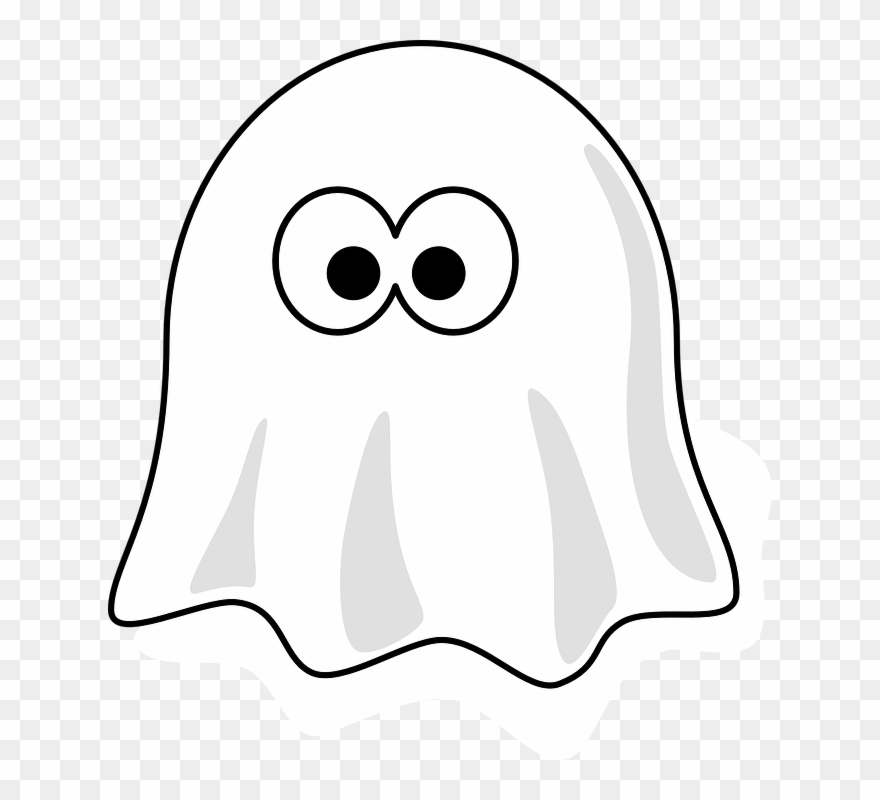 Black And White Ghost Clipart (#64101).
