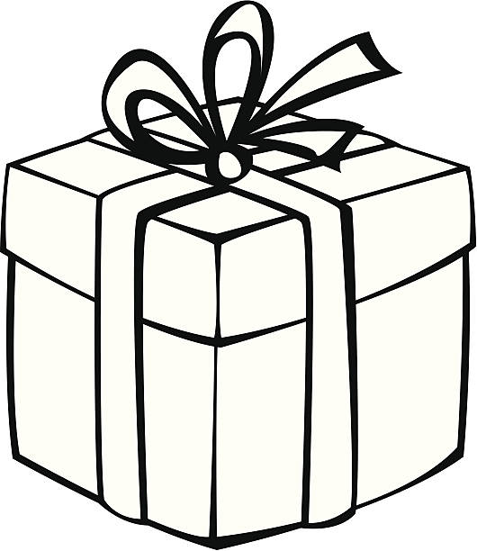 Gift box clipart black and white » Clipart Station.