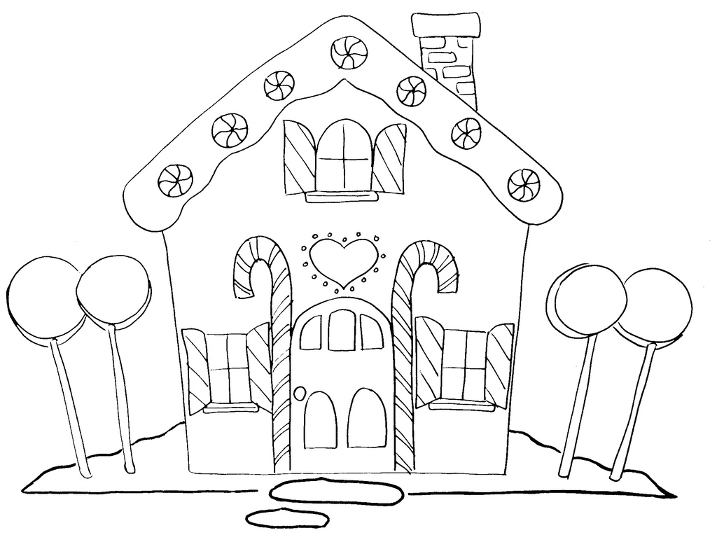 Free Gingerbread House Clipart Black And White, Download.