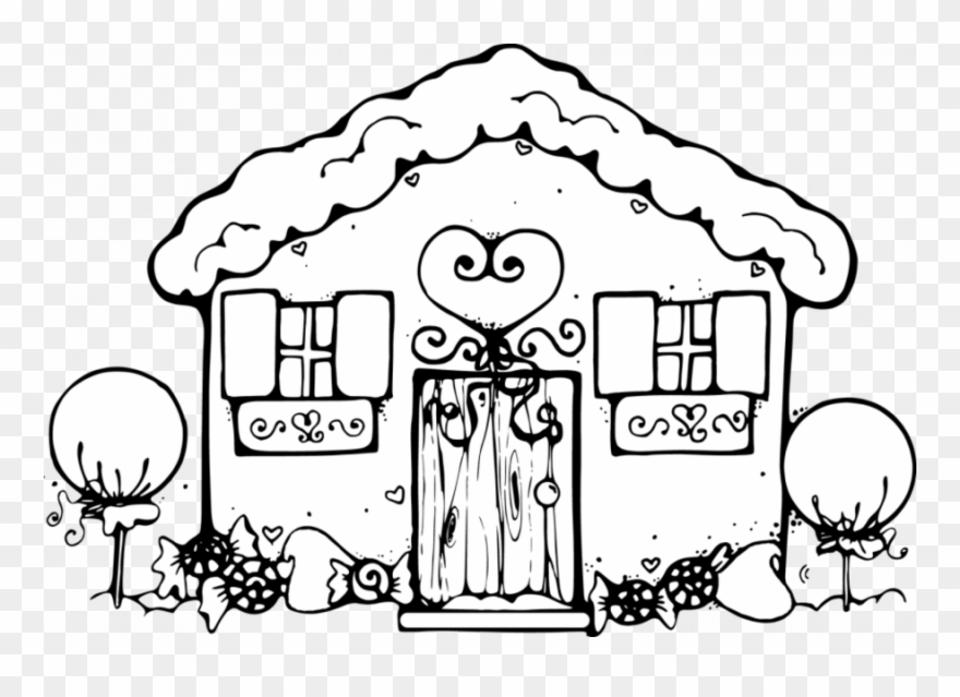 Gingerbread House Coloring Pages Clipart Gingerbread.