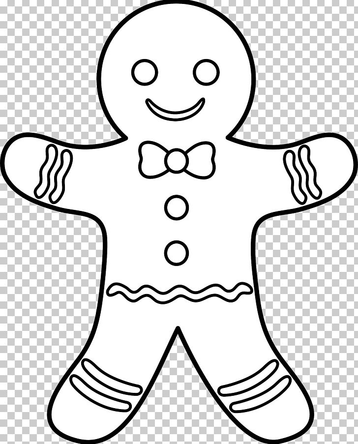 The Gingerbread Man Gingerbread House Coloring Book PNG.