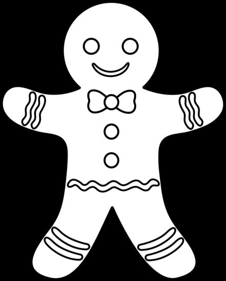 Gingerbread man walking sunny day clip art.