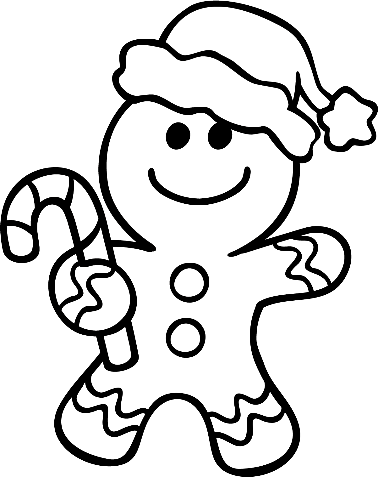 Gingerbread Man Coloring Pages.
