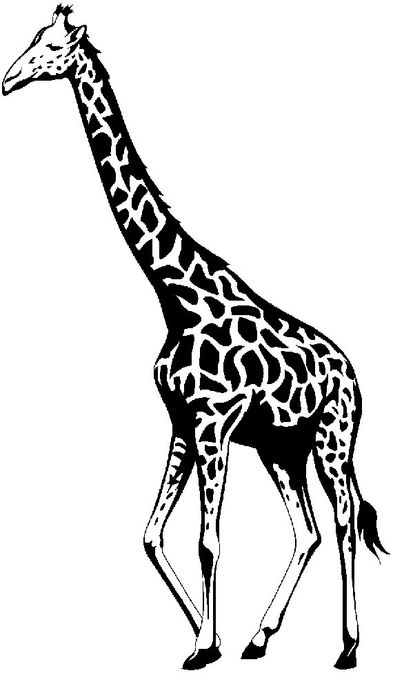 Giraffe Head Clipart Black And White.