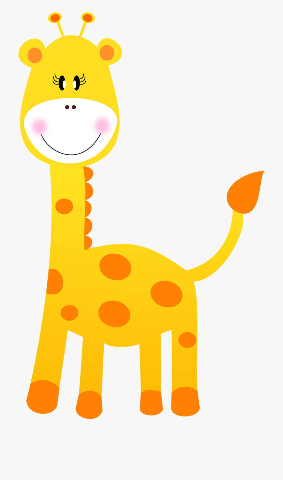 Giraffe Clipart Black And White, Giraffe Face Clipart.