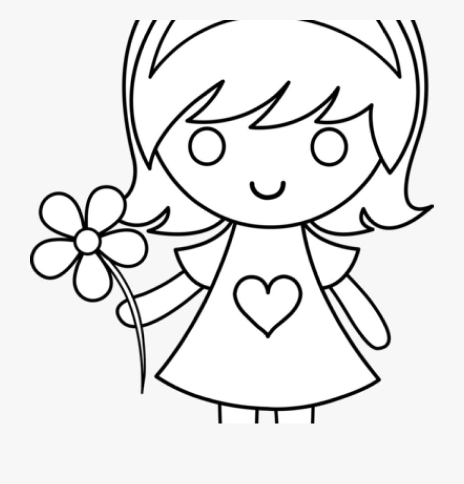 Girl Clipart Black And White Girl Clip Art Black And.