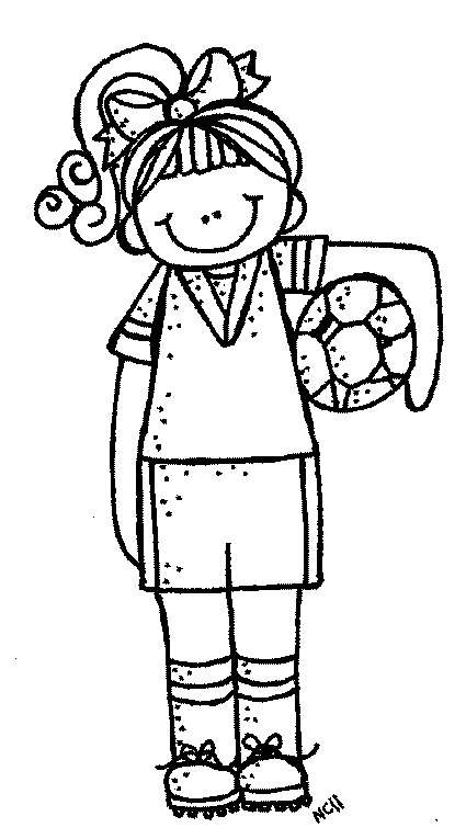 Black And White Girl Playing Clipart 20 Free Cliparts -7950