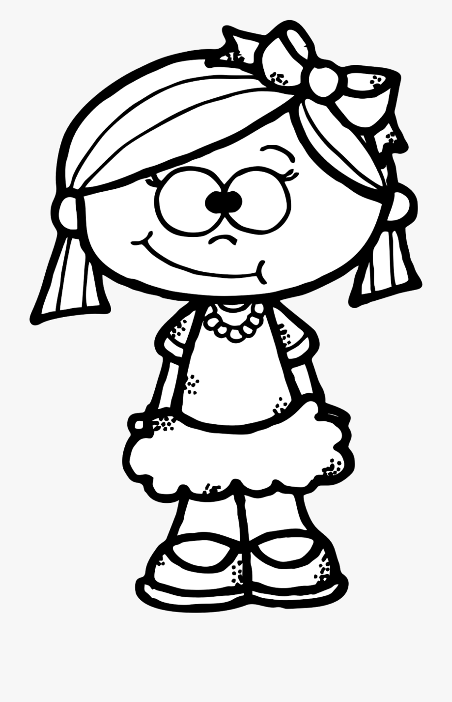 Cute Girl Clipart Freebie.