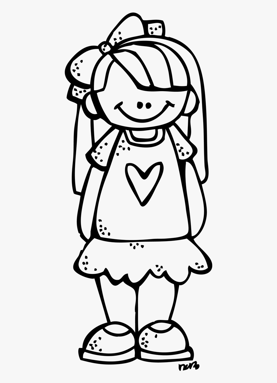 Girl Melonheadz Clipart Black And White, Cliparts & Cartoons.