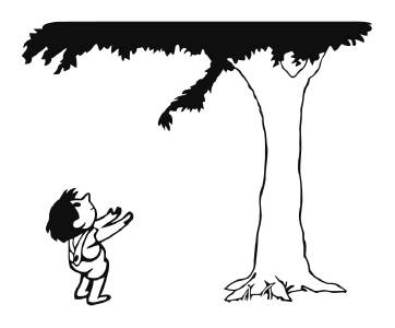 black and white giving tree clipart