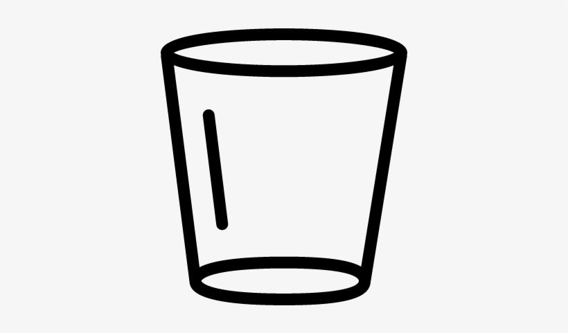 Empty Glass Vector.