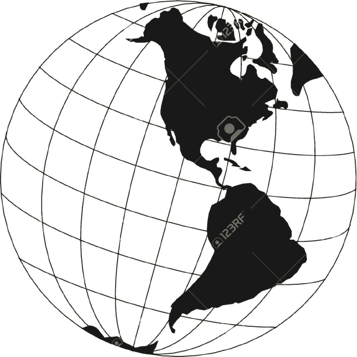 8274 Globe Clipart Black And White Globe Clipart Black And White.