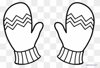 Free PNG Gloves Black And White Clip Art Download.