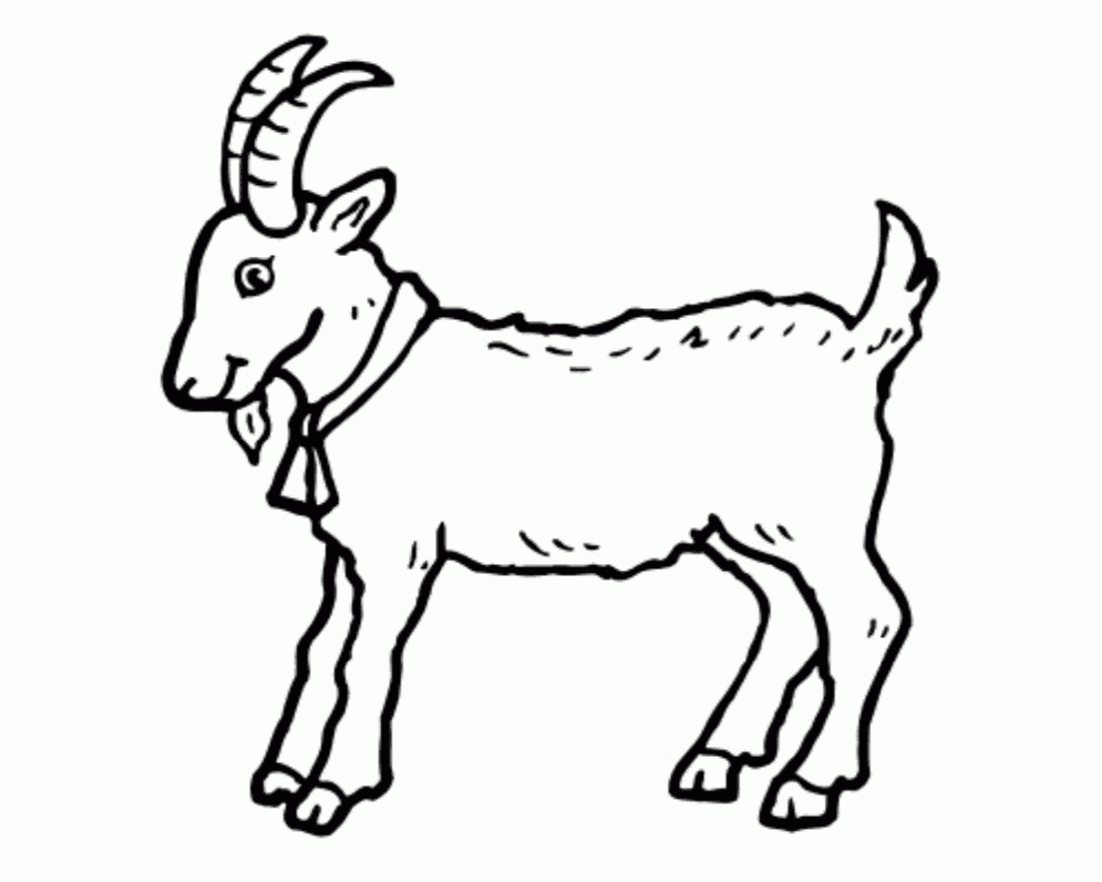 Goat Clipart Images Black And White.