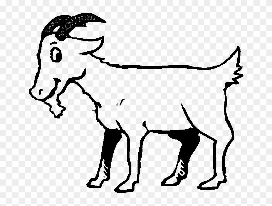 Black Amp White Clipart Goat.