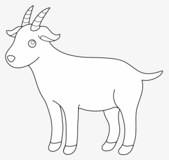 Free Goat Black And White Clip Art with No Background.
