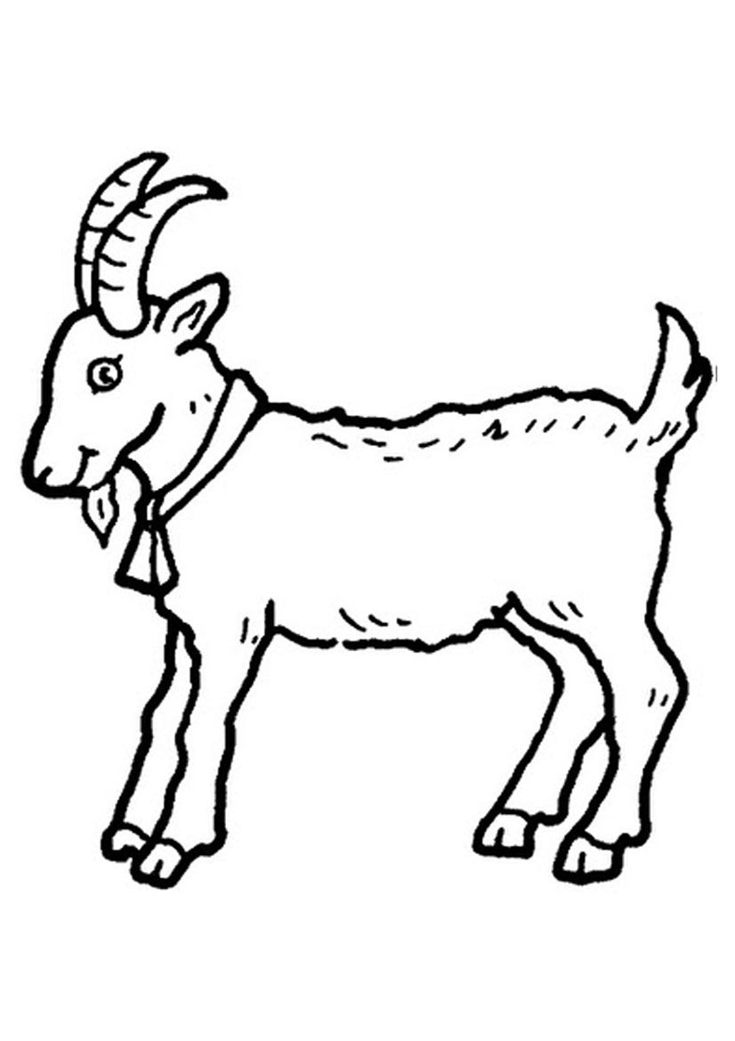 Billy Goat Clipart Black And White.