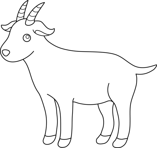 Free Black And White Goat Clipart, Download Free Clip Art.