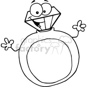 black and white gold ring clipart. Royalty.
