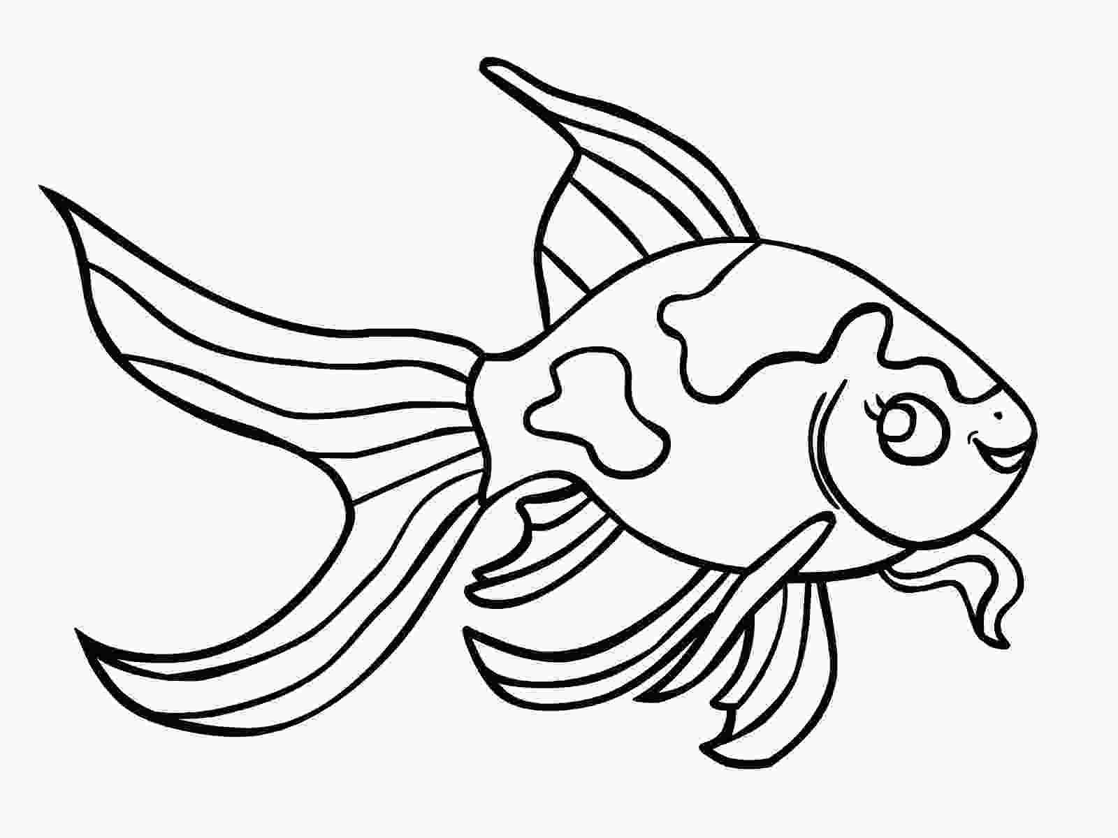 fish to color printable Free Printable Goldfish Coloring.