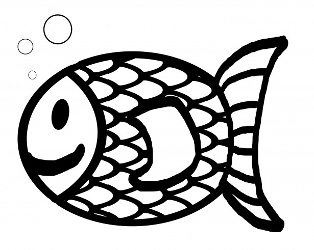 Goldfish clipart black and white 3 » Clipart Station.