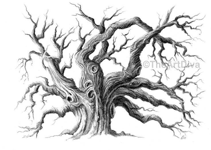 Tree Moon Black White Gothic Png & Free Tree Moon Black.