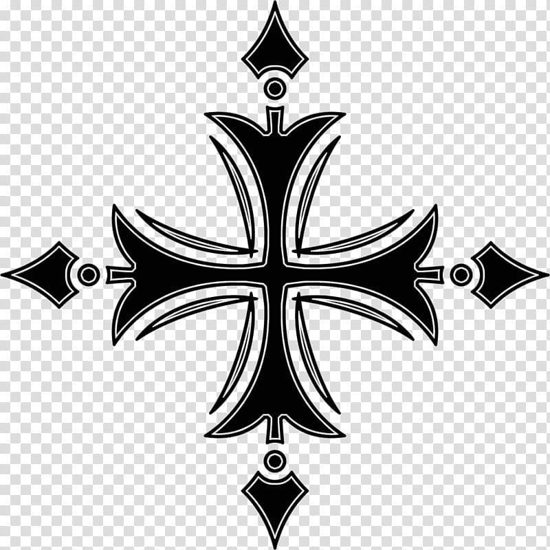 Gothic cross, black cross illustration transparent.