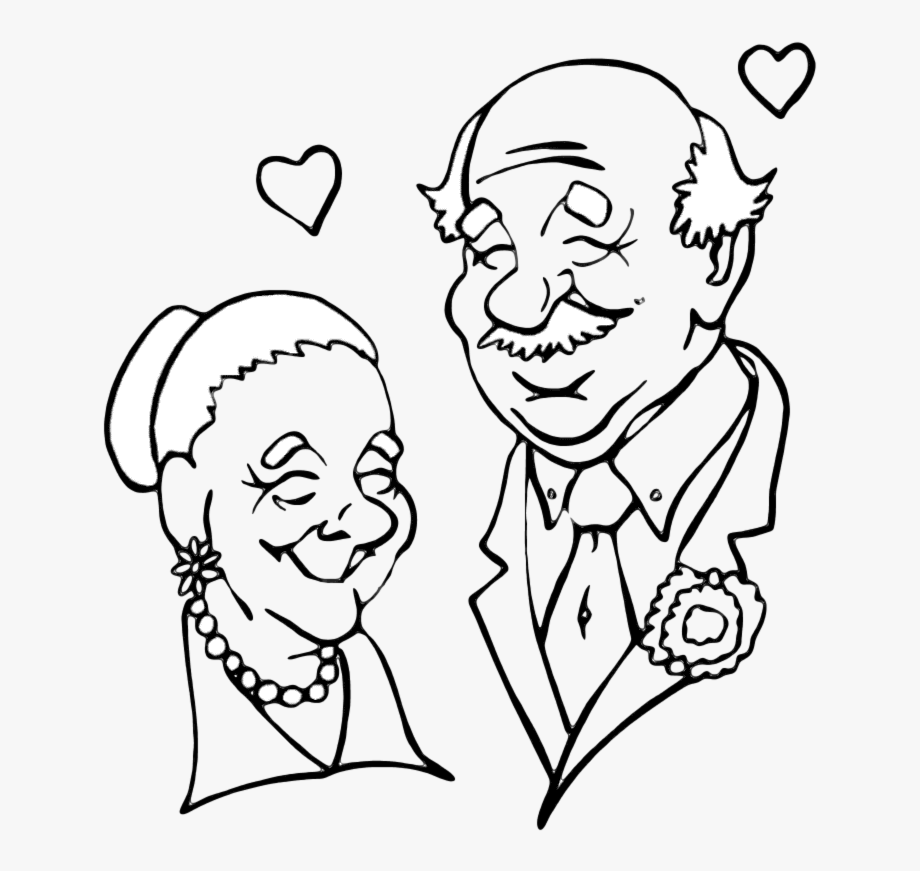 Beautiful Grandparents Png Black And White &.