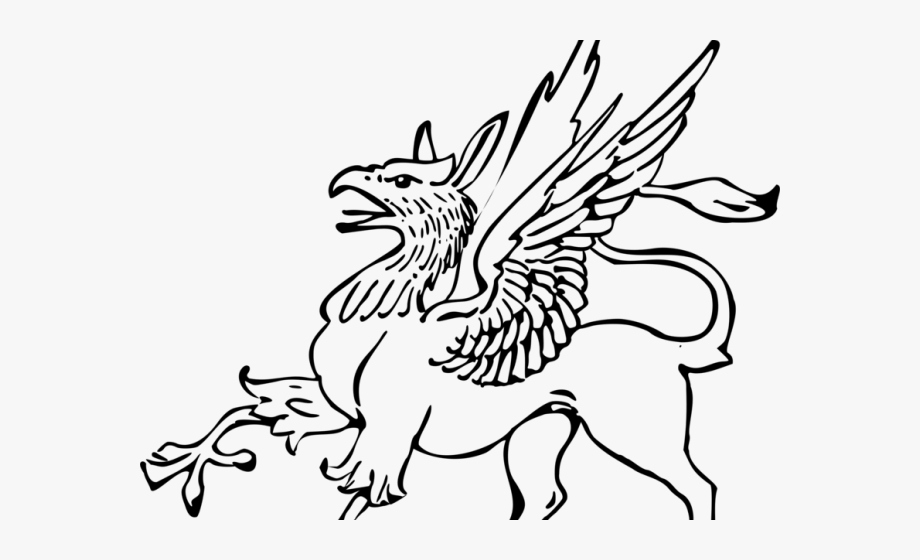 Griffin Clipart Black And White.