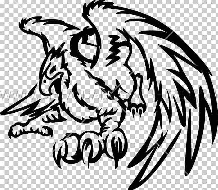 Black And White Visual Arts Griffin /m/02csf PNG, Clipart.