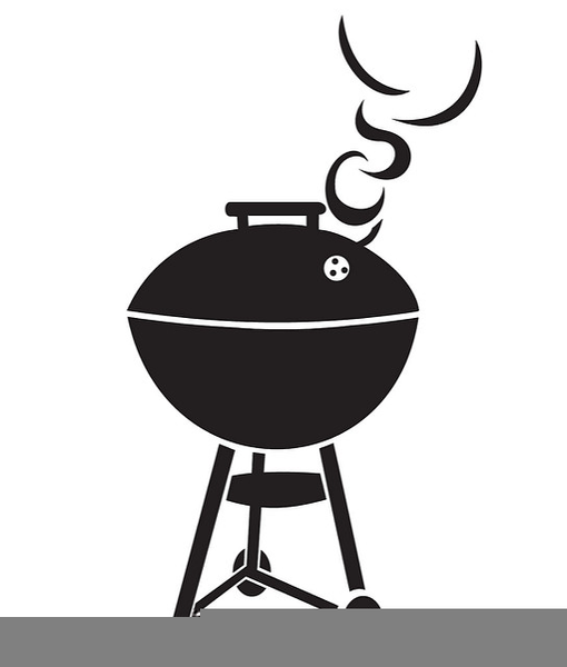 Black And White Grill Clipart.