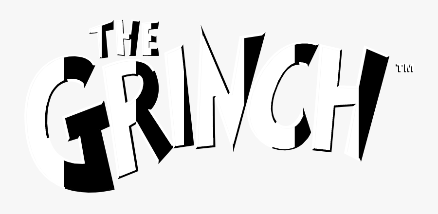 The Grinch Logo Black And White.