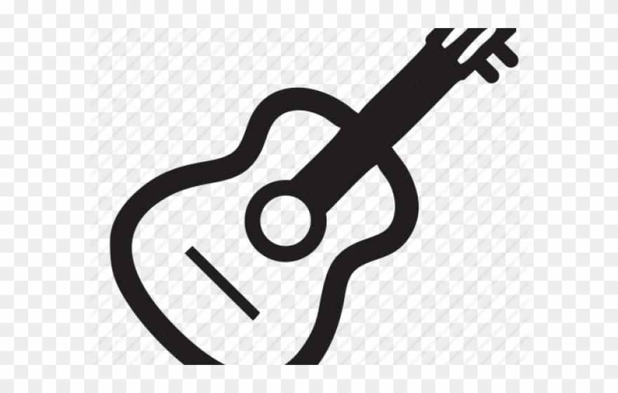 Acoustic Guitar Clipart Symbol.