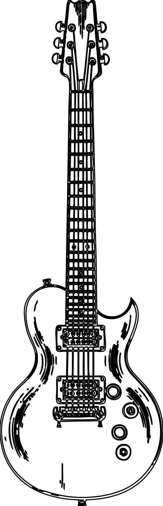 Free Black And White Pictures Of Guitars, Download Free Clip Art.