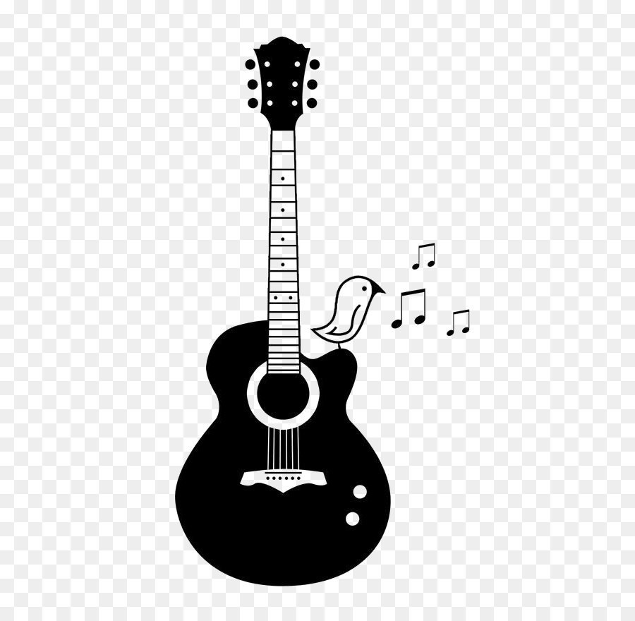 Acoustic Guitar PNG Black And White Transparent Acoustic Guitar.