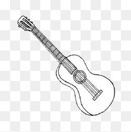 Black And White Guitar Png, Vectors, PSD #129339.