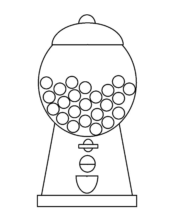 Bubble Gum Machine Drawing at GetDrawings.com.