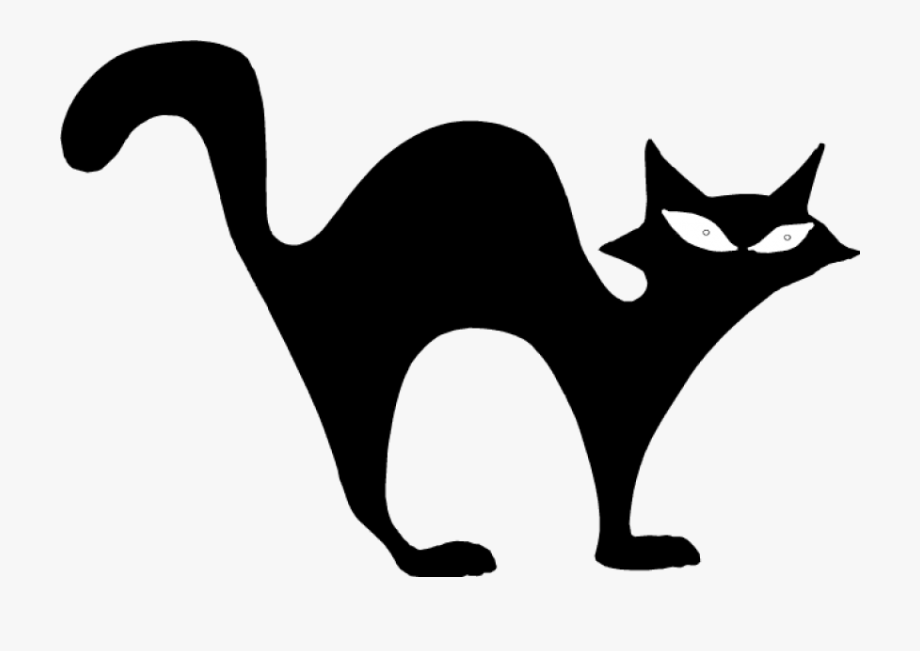Black Cat Halloween Clip Art.