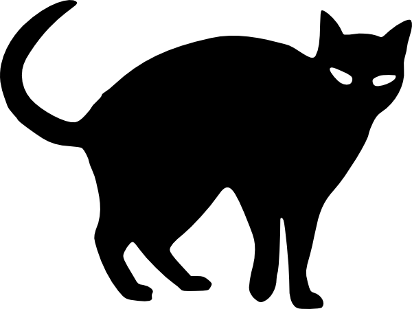 halloween cat outline.
