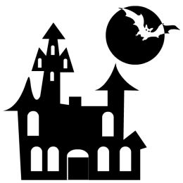 Happy Halloween Clip Art Black And White.