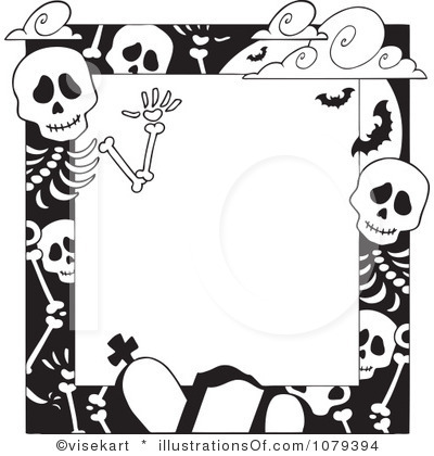Halloween Clip Art Black And White.
