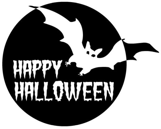 Happy Halloween Clipart Black And White.