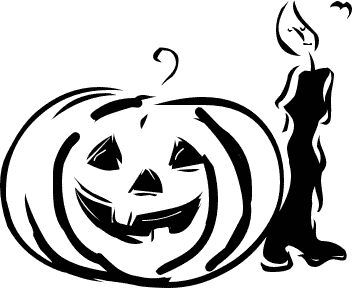 Halloween black and white free black and white halloween clipart 3.