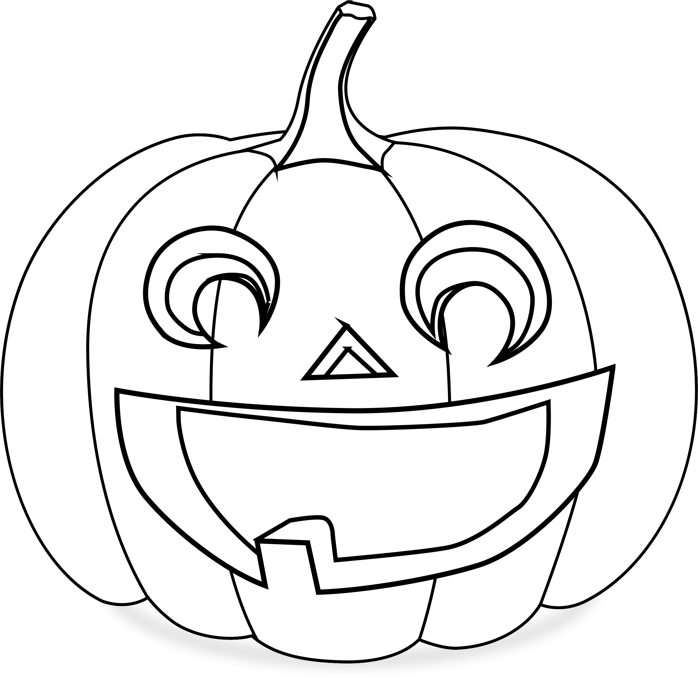 Pumpkin black and white smiley pumpkin clipart black and white.
