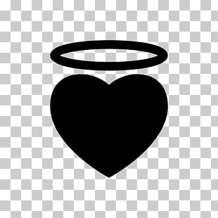 Black and white Computer Icons, Angel halo PNG clipart.