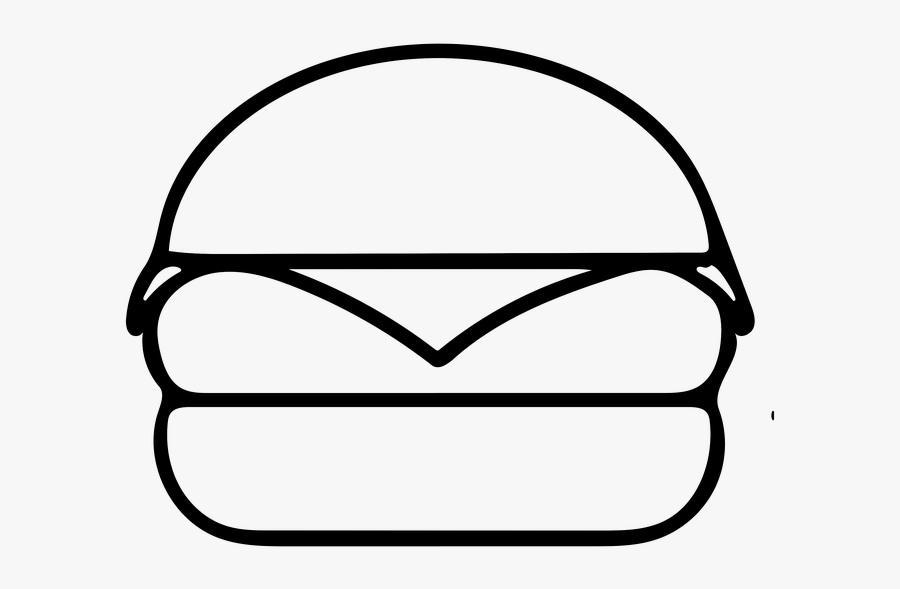 Transparent Burger Clipart Black And White.