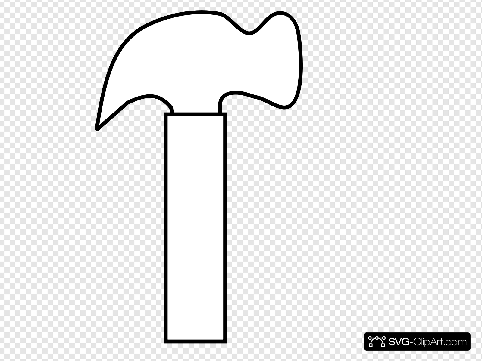 New White Hammer Clip art, Icon and SVG.